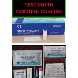 TEST COVID  CERTIFIE CE et ISO