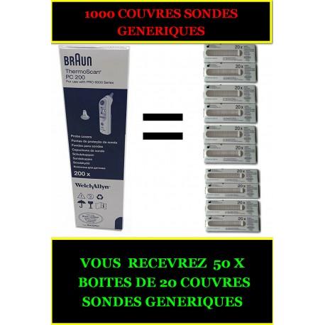 COUVRES SONDES GENERIQUES (1000) POUR THERMOMETRE BRAUN